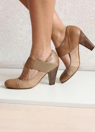 Кожаные италийские туфли бежевого нюдового цвета, бренд faith