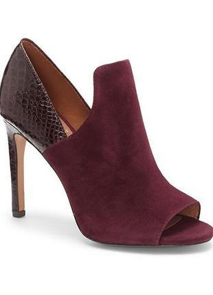 Бордовые замшевые туфли,босоножки бренд  vince camuto р. 38, 5
