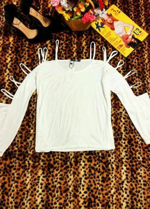 Стильная кофточка с открытыми плечами 14 размер