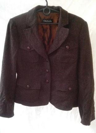 Стильный пиджак betty barclay / шерстяной жакет