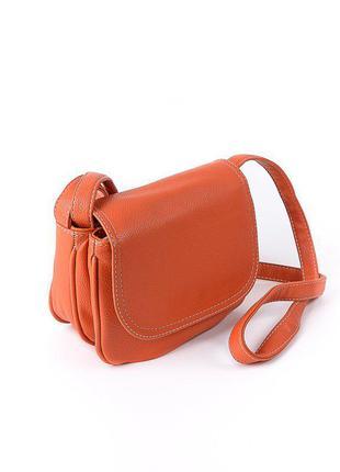 Женская сумочка кросс-боди оранжевая