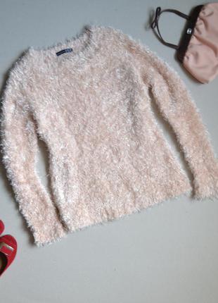 Пушистый свитер реглан травка atmosphere