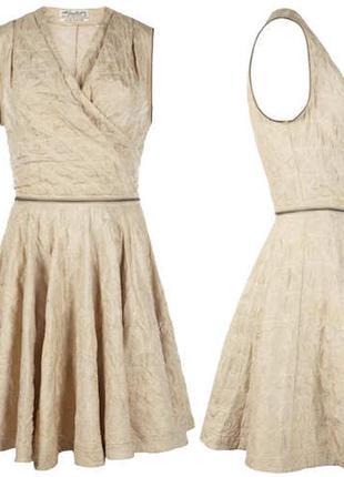 Allsaints шелковое коктейльное платье пудрового цвета размер 8