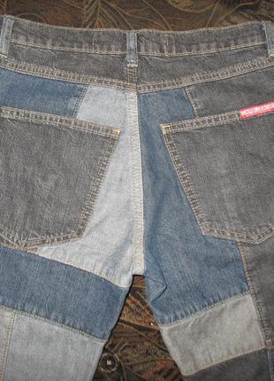 Эксклюзивные джинсы-пэчворк р. 36