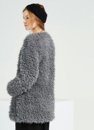Пушистое пальто бойфренд