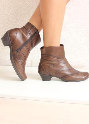 Кожаные ботинки полусапожки, натуральная кожа