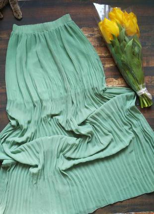 Мятная юбка в пол длинная макси pull&bear