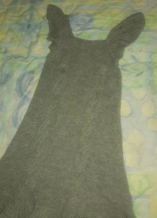 Платье туника вязанное весенне зимнее вязанное крутое стильное