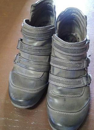 Класные кожаные ботинки-туфли