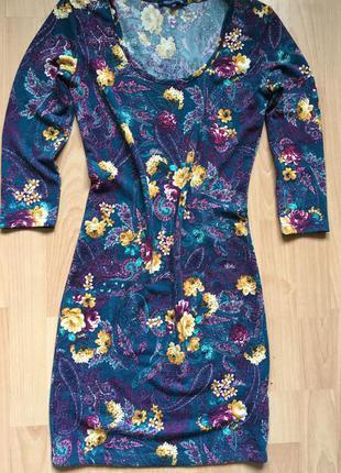 Платье крутое по фигуре цветочное