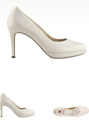 Жемчужные свадебные туфли hogl 38 размера