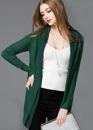 Темно зелёный кардиган ,накидка ,кофта ,свитер из шерсти