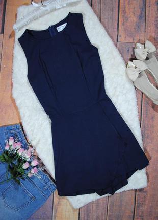Темно-синий ромпер с ассиметричными шортами ravi famous размер uk8 (xs/s) комбинезон комбез