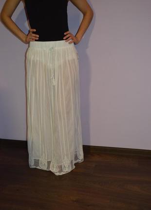 Длинная в пол юбка