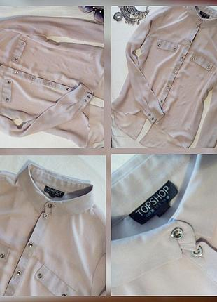 Блуза рубашечного покроя  капучино