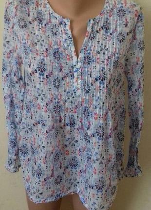 Легкая натуральная рубашка с принтом