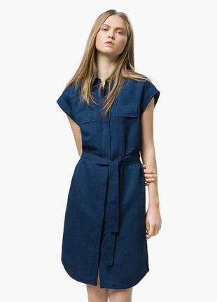 Джинсовое платье-рубашка massimo dutti размеры 40, 42