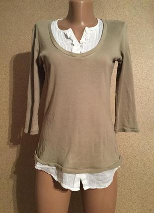 Джемпер рубашка 2 в 1 хлопок распродажа скидка