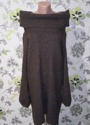 Теплое миди платье 36-38 р