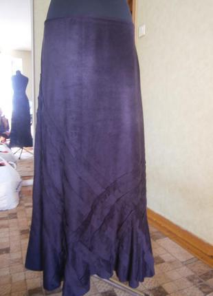 Юбка в пол глубокого темно-фиолетового цвета per una 16р. ( xl )