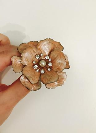 Кольцо перстень цветок эмаль бижутерия h&m