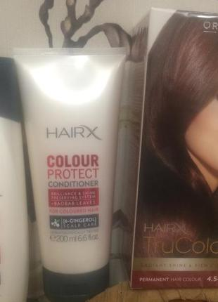 Краска та кондеціонер з шампунем  для фарбованого та мелірованого волосся