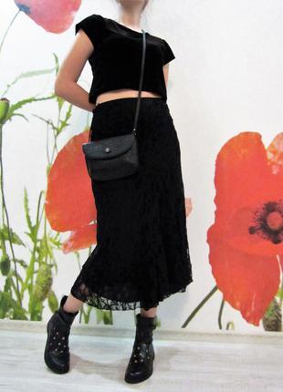 Стильная гипюровая юбка