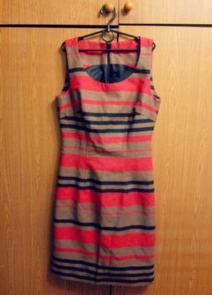 Крутое платье футляр multi-colored stripe topshop (яркое,летние,модное,офисное,элегантное,вечернее)
