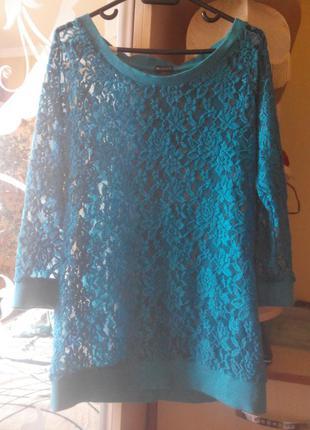 Берюзовая блуза