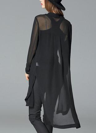 Удлиненная блузка тренч женская с разрезами h&m л