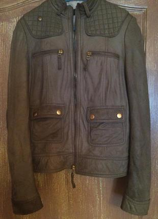 Куртка кожаный пиджак zara
