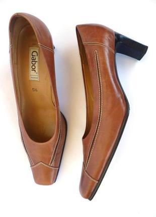 Туфли из натуральной кожи дорого бренда gabor (большой выбор одежды и обуви)