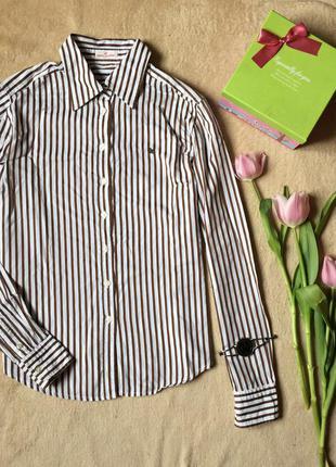 Рубашка в полоску прямой крой
