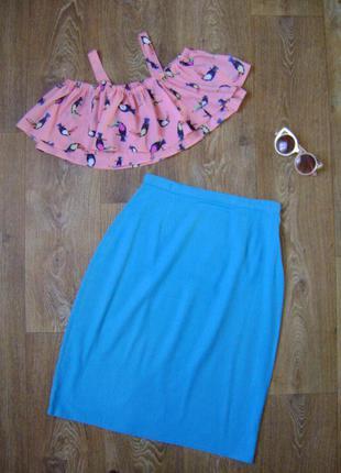 Летняя юбка с высокой талией в стиле ретро