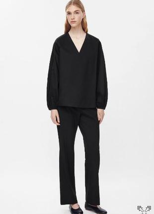 Чёрная блуза cos