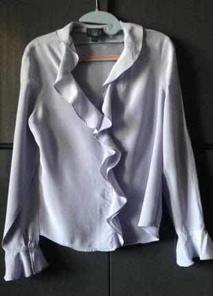 """Шелковая блуза цвета """"лавандовый туман""""  laura ashley"""