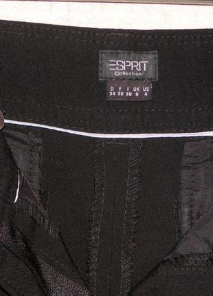 Esprit качественные черные брюки со стрелками и манжетом средняя талия