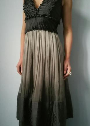 Шикарное платье миди/омбре