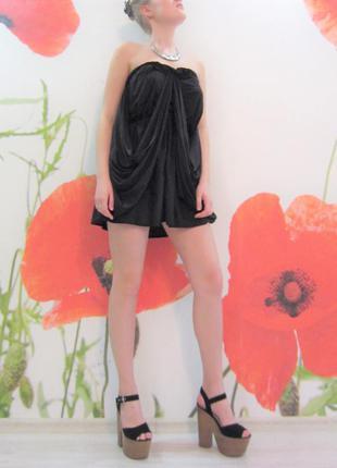 Черное мини платье asos