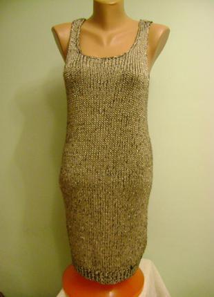 Новое платье-туника с металлизированной нитью,фирма h&m,размер 12,