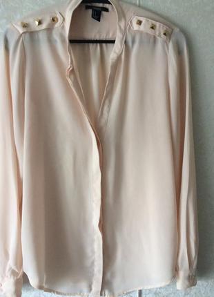 Блуза цвета топленое молоко forever 21,р.s