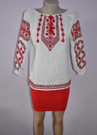 Вишита сорочка вышиванка женская вышитая рубашка