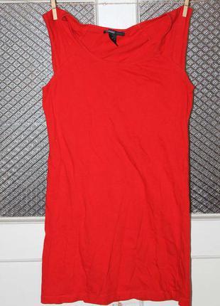 Майка платье туника футболка mango s-xs