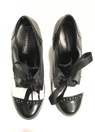 Ботильоны ботинки полуботинки ретро стиль classified