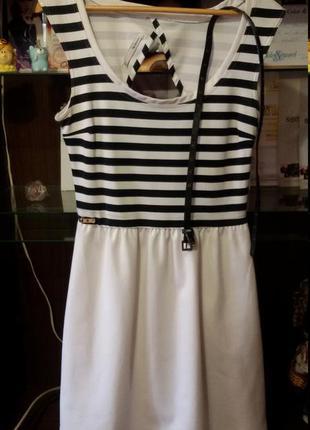 Bershka платье в морском стиле