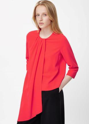 Коралловая блуза cos 32 р