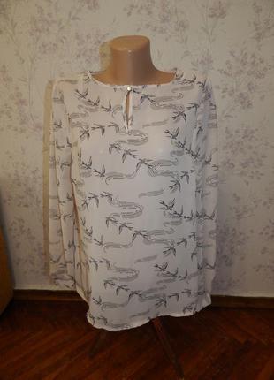 Atmosphere блузка шифоновая полу-прозрачная стильная модная р18 большой размер