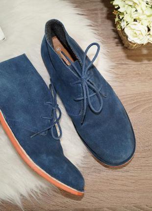 (38р./25см) mango! замша! классные демисезонные ботинки