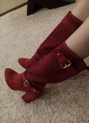 Оригинальные ботинки из натуральной кожи 38-39р