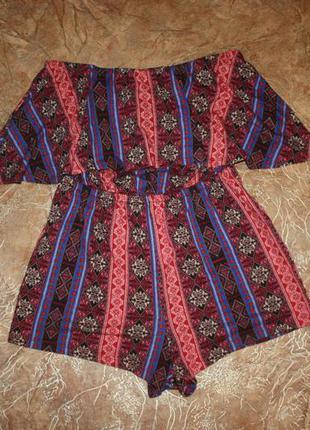 Комбинезон шорты в орнаментах бохо